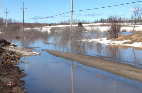 The trail next to the movie theatre in Charlottetown has taken a beating from the melting snow during these recent warm days. Flooding has become an issue for Islanders across the Island, with basements flooding and streets swamped. James Ferguson photo
