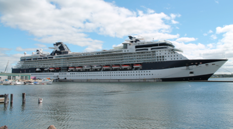 The Celebrity Summit cruise ship docked in Charlottetown on Sept. 12. The ship brought approximately 2,000 passengers and 900 crew to the city. Kayla Fraser photo.