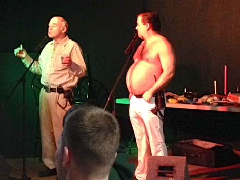 John Dunsworth aka Mr. Lahey, and Patrick Roach aka Randy perform during a comedy routine at The Wave at UPEI on Feb.4. Madison Blanchard photo.