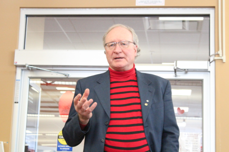 Liberal leadership candidate Wade MacLauchlan spoke with Holland College staff and student earlier February. MacLauchlan was sworn in as P.E.I.'s 32nd premier Feb. 23. Drake Lowthers photo.