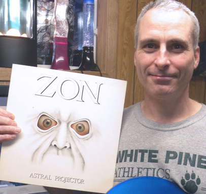 J.P. Benoit displays the first record he ever owned. He was the first customer through the doors of a new record shop in his hometown and received this Zon album as a 13-year-old kid. Darcy Cudmore photo.